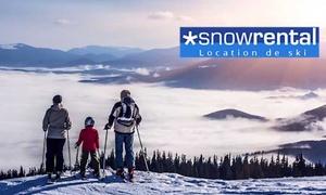 Snowrental: Bon de réduction de jusqu'à 65% sur la location de matériel de ski en ligne sur Snowrental, à 5 €