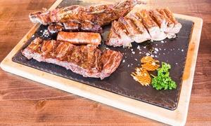 La Porteña: Menú para 2 o 4 con entrante, parrillada de 1 o 2 kg, postre, botella de vino y digestivo desde 24,95 € en La Porteña