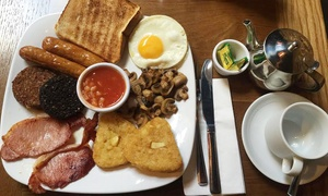 Bobos Burgers: Irish Breakfast with Tea or Coffee for One or Two at Bobos Burgers (42% Off)