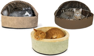 K&H Thermo-Kitty Regular or Deluxe Hooded Pet Bed