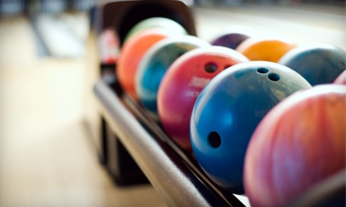 Strikz Entertainment - Frisco: Two Hours of Bowling with Shoe Rental for Up to 5 or 10 at Strikz Entertainment (Up to 65% Off)