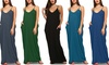 Isaac Liev Women's Oversized Thin Strap Dress. Plus Sizes Available.