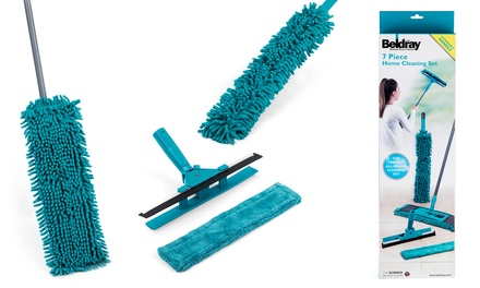 Beldray LA026798 SevenPiece Duster and Mop Cleaning Set