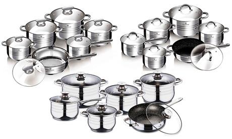 Batería de cocina de 12 o 13 piezas Gourmet Line