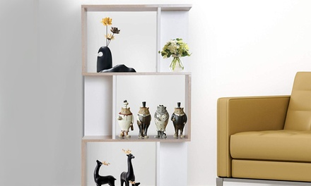 HomCom S-Shaped Bookcase
