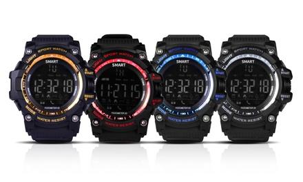 Wasserdichte Smartwatch mit Fitnesstracker und Bluetooth in der Farbe nach Wahl inkl. Versand