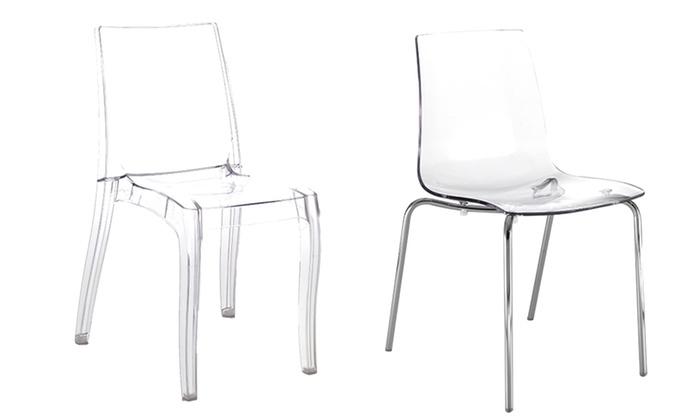 Set di 2 sedie trasparenti in policarbonato by Tomasucci disponibili in 2 modelli a 149 </p>                     </div>                     <div id=