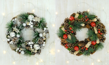 Artificial Pinecone Wreath