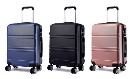 Kono Hard Shell Cabin Size ABS Suitcase with Spinning Wheelsin Choice of Colour