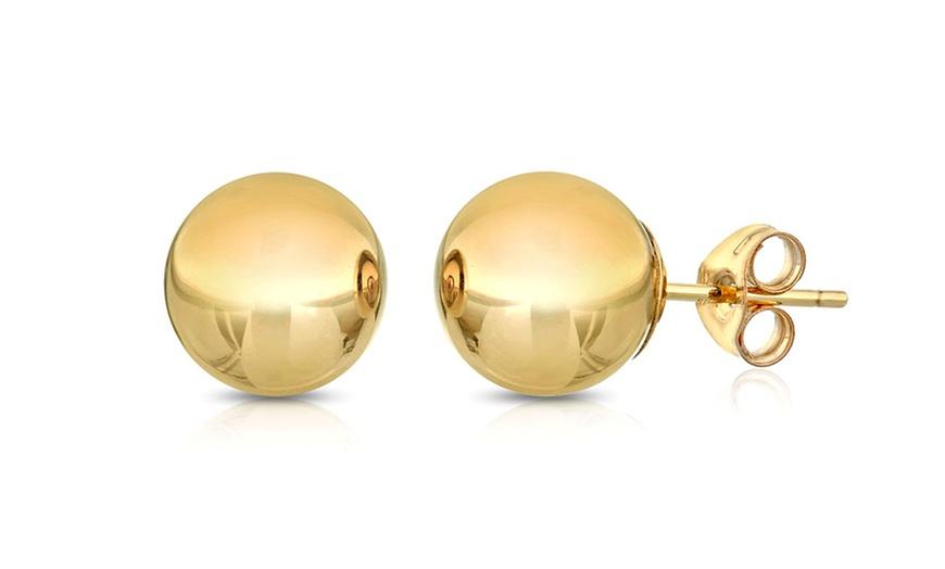 Gold Ball Stud Earrings 5mm Stainless Steel Ball Earrings