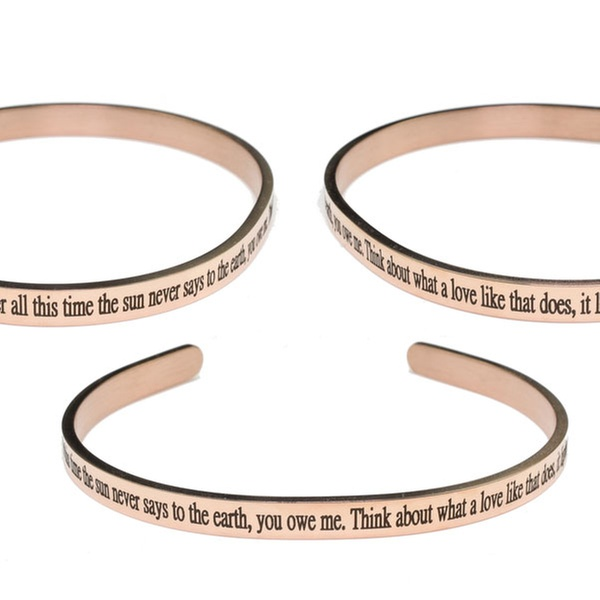Pink Box 5Mm Solid Stainless Steel Cuff Gold Forgiveness