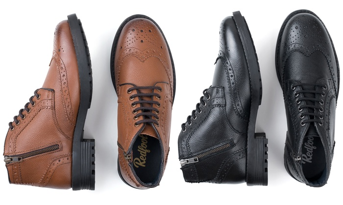 Cuir En Homme Shopping 5q01afwfxw Groupon Boots Redfoot iTOkuZPX