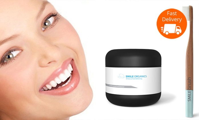 $29 for a Smile Organics Teeth Whitening Kit Including Six-Month Supply and Bamboo Toothbrush (Don't Pay $65)