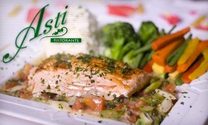 Asti Ristorante - Gaslamp: $30 for $60 Worth of Italian Cuisine at Asti Ristorante