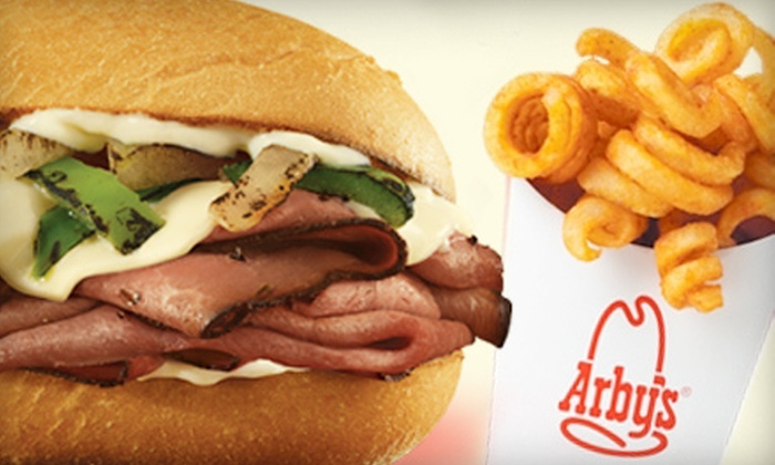 Arby's - Multiple Locations: $5 for $10 Worth of Roast-Beef Sandwiches, Curly Fries, and Soft Drinks at Arby's