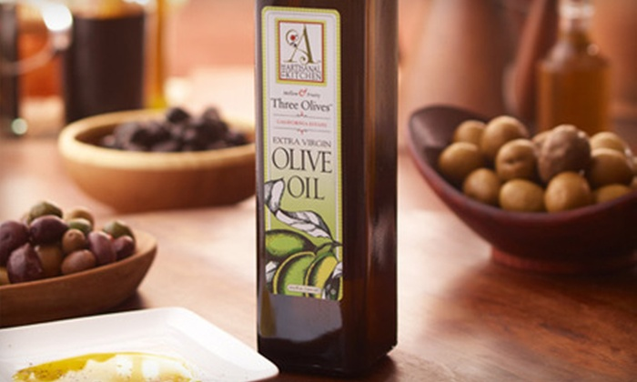 The Artisanal Kitchen: $12 for Two Bottles of Three Olives Olive Oil from The Artisanal Kitchen ($25.98 Value)