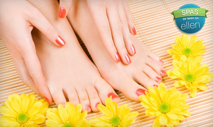 Transcend Hair & Esthetics - Rossmere - A: $30 for a Shellac Manicure and Regular Pedicure at Transcend Hair & Esthetics ($65 Value)