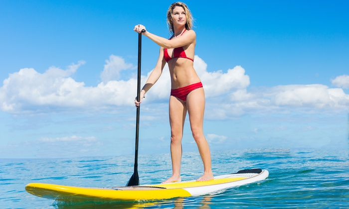 Tiki.Surf - Central Newport Beach: Up to 50% Off One or Two-Hour,  Half-Day or Full-Day Stand-up Paddleboard Rental  at Tiki Surf
