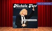 1 place pour le concert de Michèle Torr les 07 ou 08 avril 2017 à 19h30, à 29 € à Abbeville ou Albert
