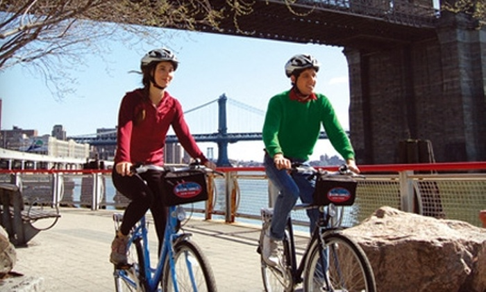 Blazing Saddles - New York City: $25 for an All-Day Hybrid or Mountain-Bike Rental at Blazing Saddles ($53 Value)