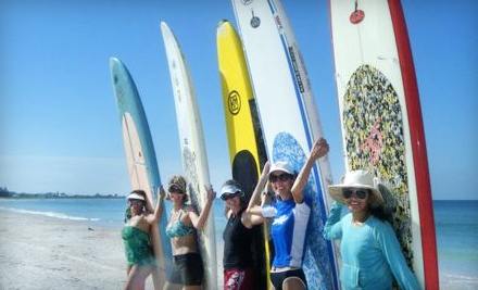 1-Hour Standup-Paddleboard Lesson for 1 Person ($50 value) - Barefoot Paddler in