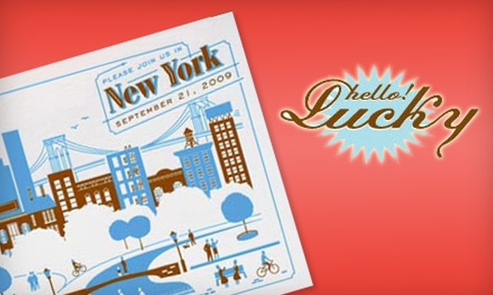 Hello!Lucky: Stationery, Greeting Cards, and More from Hello!Lucky. Choose Between Two Options.