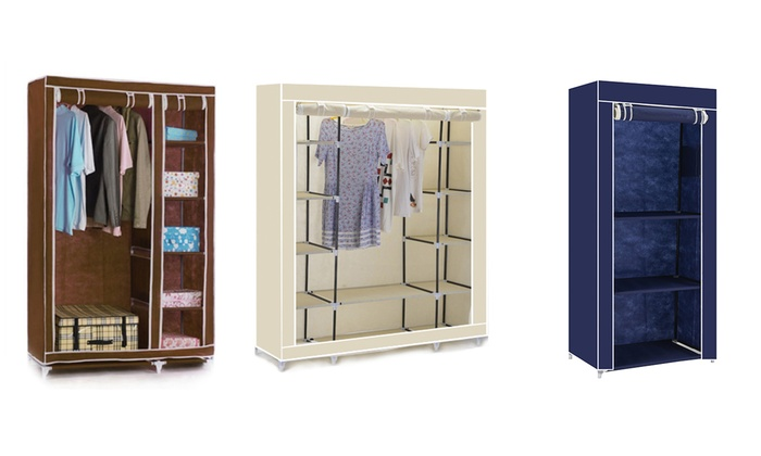 Single, Double or Triple Canvas Wardrobes in Choice of Colour for £15