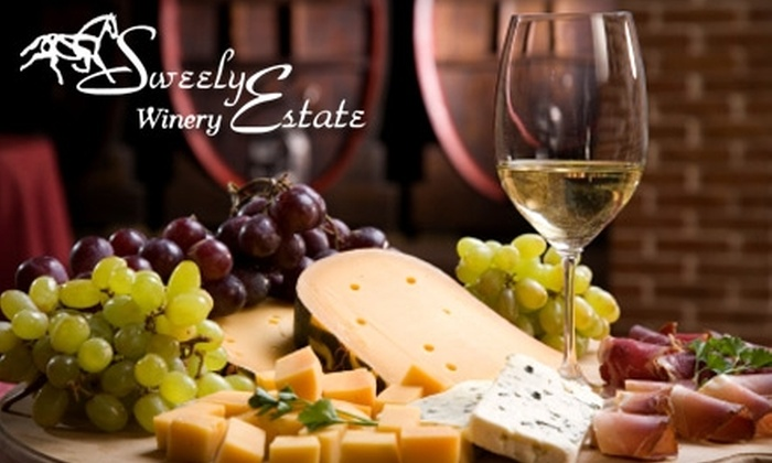 Sweely Estate Winery - Rapidan: $15 for a Wine-and-Cheese Tasting for Two Plus $10 Credit Toward Wine Purchases at Sweely Estate Winery ($33 Value)