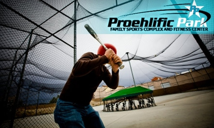 Proehlific Park - Bruce: $10 for 30 Minutes of Unlimited Hitting at Proehlific Park's Indoor Batting Cages or Golf Training Bays in Greensboro