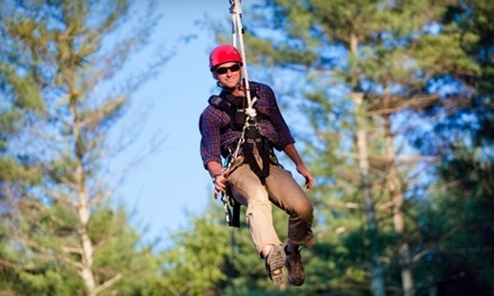 The Beanstalk Journey at Catawba Meadows - Morganton: $69 for a Zipline Canopy Tour for Two at The Beanstalk Journey at Catawba Meadows in Morganton (Up to $138 Value)