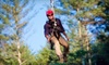 The Beanstalk Journey - Morganton: $69 for a Zipline Canopy Tour for Two at The Beanstalk Journey at Catawba Meadows in Morganton (Up to $138 Value)