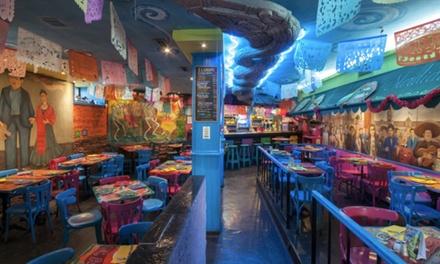Menú mexicano para 2 o 4 con entrante, principales, chupito de margarita o postre y bebida desde 19,95 € en La Mordida