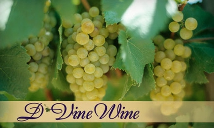 D'Vine Wine - Multiple Locations: $15 for a Tasting for Two and $20 Toward Any Purchase at D'Vine Wine or Cowtown Winery (Up to $32 Value). Choose from Five Locations.
