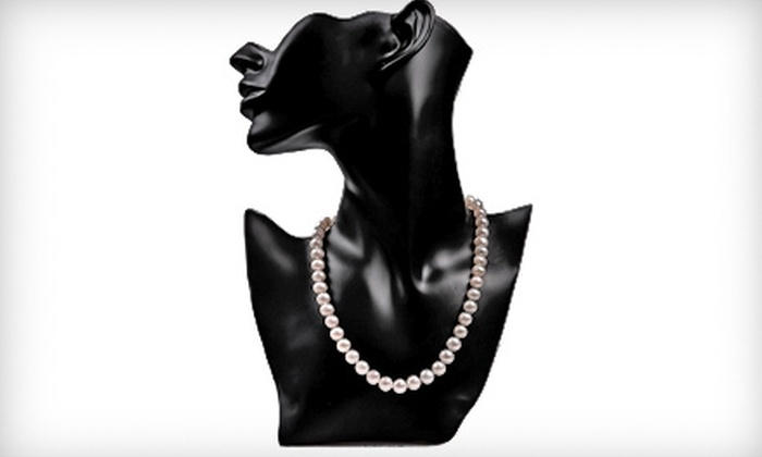 My Pacific Pearls: $79 for an Authentic 18-Inch Pearl Necklace with 14-Karat Gold Clasp from My Pacific Pearls ($450 Value)