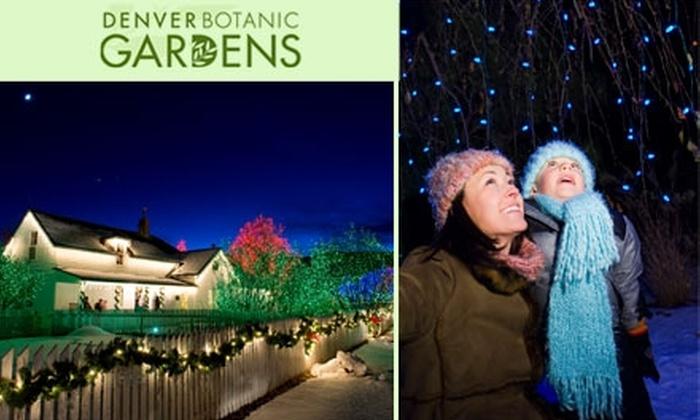 Denver Botanic Gardens Cheeseman Park 40 For One Year Family General Membership