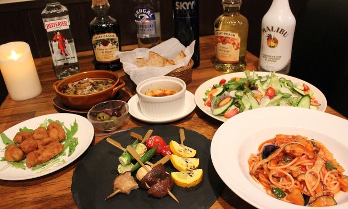 Kitchen AJITO - Kitchen AJITO: 60%OFF【1,980円】99%オーガニック宣言。ヘルシーで美味しいお料理を堪能≪焼き野菜串、アヒージョなど7品+飲み放題120分≫ @Kitchen AJITO