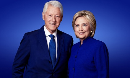 An Evening with The Clintons on Saturday, May 4, at 7:30 p.m.