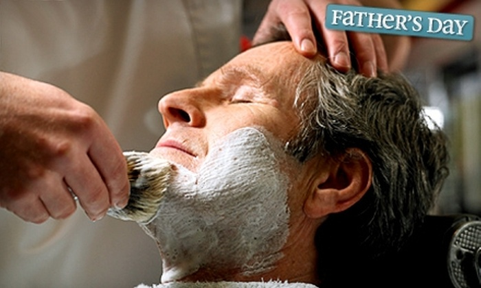 Male Essentials Grooming Lounge - Downtown Vancouver: $25 for Haircut, Hot-Towel Shave, and Beer at Male Essentials Grooming Lounge ($50 Value)