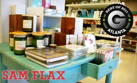 $40 Groupon to Sam Flax - Sam Flax in Atlanta