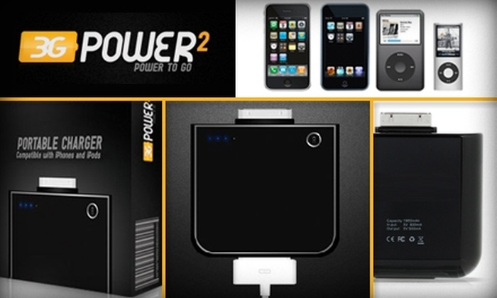 3GPower2 - Miami: $17 for 3GPower2 Portable Charger for iPhone, iPod, or iTouch ($30 Value)