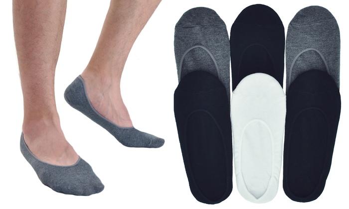 Men's No-Show Cotton Liner Socks (6-Pack)