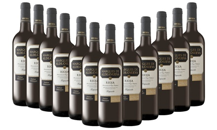 12 Bottles of Spanish Tempranillo Rioja for £49.99 With Free Delivery (58% Off)