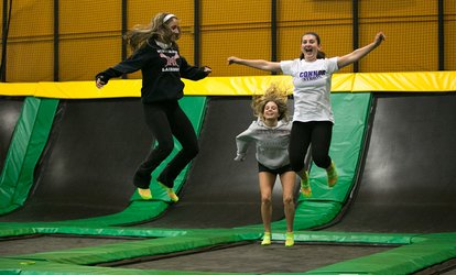 image for Two, Four, or Six 60-Minute Jump Passes or Party for 12 at Rockin' Jump Trumbull (Up to 46% Off)