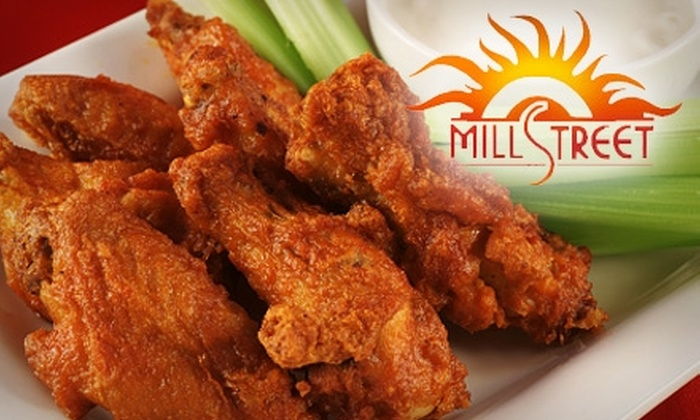 Mill Street Grille - Pontiac Downtown: $10 for $20 Worth of Wings, Happy Hour, and More at Mill Street Grille