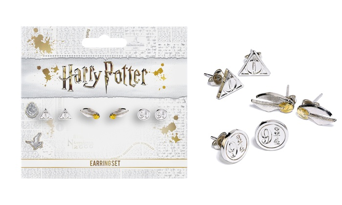 Harry Potter House Metal Stud Earrings