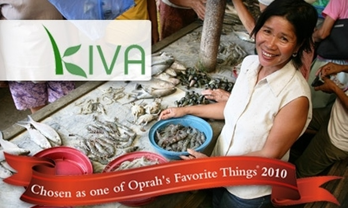 Kiva.org: $15 for $25 Worth of Microloan Credit to Help Global Entrepreneurs on Kiva.org