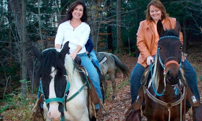Wolcott Farms - Orangeville: $60 for a Horseback-Riding Tour for Two (Up to $120 Value) or $75 for a Wagon Ride for Two ($150 Value) from Wolcott Farms in Warsaw