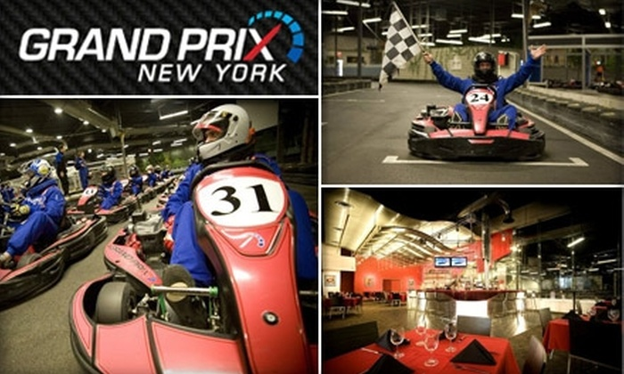 Grand Prix New York - Mount Kisco: $25 for Two Indoor Kart Races and Single Day Membership to Grand Prix New York (up to a $60 Value)