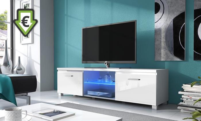 Mueble de tv con luces led groupon goods for Groupon muebles salon