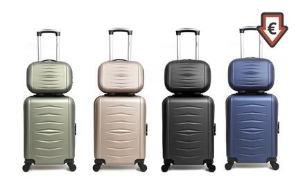 ae27e11c66142 Déstockage   Vanity case et set 3 valises en ABS modèle Grenade et ...